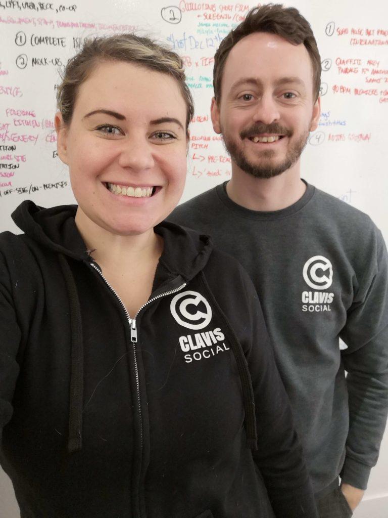 Sonja Missio and Nick Farnborough Clavis Founders
