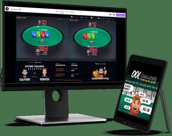 Galfond Challenge desktop and tablet mock-up